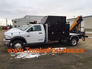 2012 dodge RAM 5500 SLT 4X4, 11 Ft BODY, PICKER, + MORE!!!