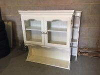 2x pine - white painted wooden dresser top units (both different, see photos)