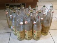 Empty Glass Bottles With Locking Swing Tops! Great For Wine Making Or Storage