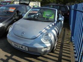 VOLKSWAGEN BEETLE 1984cc CABRIOLET 2 DOOR, ELECTRIC SOFT TOP CONVERTIBLE 2003-53