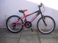Kids Bike by Raleigh with Gears, Red & Black, 20 inch for Kids 7+ years, JUST SERVICED/ CHEAP PRICE!