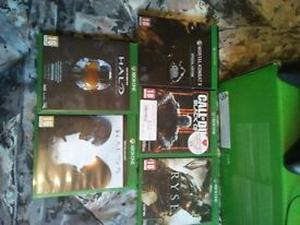 xbox one with kinect, 5 games.