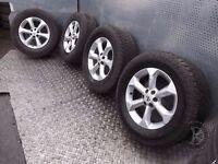 "Nissan Navara (2005-2015) 17"" 4x Alloy Wheels + Tyres 255/65 R17 ref.7AG29"