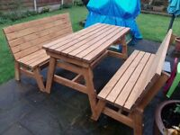 Garden Benches, 4 or 5 feet, various colours, solid sustainable wood, very sturdy. delivered