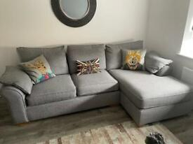 Next, right hand sofa and snuggle chair