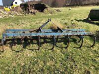 Rear linkage grudder or cultivator