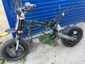 Pitbike breaking stomp supermoto