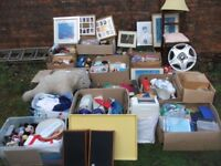 HUGE HOUSE CLEARANCE JOB LOT 20 + BOXES SPEAKERS CHINA GLASS CD DVD BOOKS IDEAL CAR BOOT