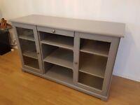 Grey ikea display cabinet