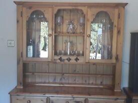 Antique Pine Welsh Dresser