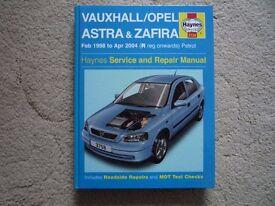 Vauxhall Astra & Zafira Haynes Manual