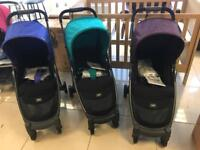 Choice of Indigo Blue Or Mulberry Or Teal Brand New Mamas and Papas Armadillo City Pushchairs