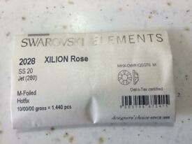 Swarovski ss20 jet hot fix crystals 10gross=1440 pieces retiring so greatly reduced prices