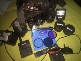 Canon 1300D dslr camera w+18 camera equipment
