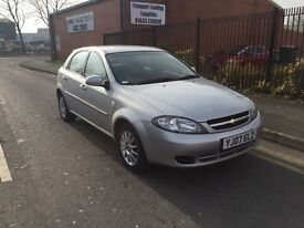 07 reg Chevrolet Lacetti 5 door long mot , low miles ,big boot px options available