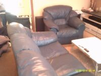 leather sette and chair