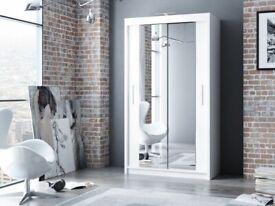 💎💎New Berlin sliding door wardrobe **black/White/Grey colour**