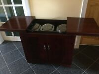 Mahogany hostess trolley