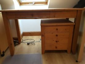 Real Wood Great Quality Writing / Computer Desk with 2 Drawer Pedestal