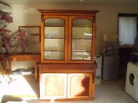 REPRODUCTION ANTIQUE DRESSER GOOD CONDITION 7 FEET HIGH & 54 INCHES WIDE COUNTRYSIDE STYLE.£100 ONO