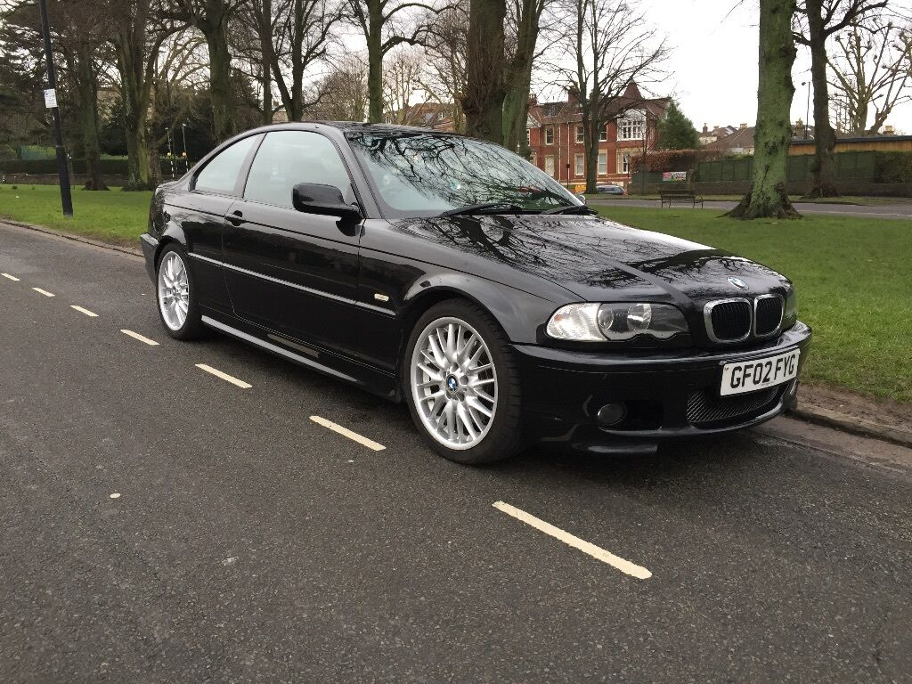 2002 02 bmw 330ci m sport e46 2 door coupe 13 months mot black genuine car with massive. Black Bedroom Furniture Sets. Home Design Ideas