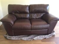 Free - Three Seater & Two Seater Leather Sofas
