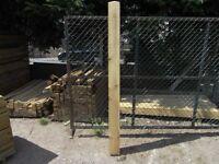 Timber gate post 150mmx150mmx2.1m long