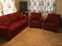 Sofa and 2 Easy Chairs