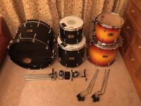 Pearl Masters Studio Birch Drum Kit in Sunburst / Matt Black Wrap