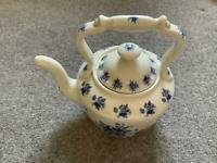 Large china teapot. Vintage style.