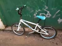 Free kids white bmx bike