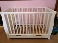 White Sleigh Cot Bed (WITHOUT Mattress)