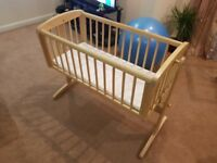Swinging crib used only a couple of times plus new matress