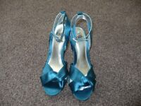 Faith Blue Satin Shoes