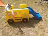 Kids toddler garden bus slide good condition