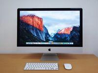 "Apple iMac 27"" i7 Desktop 3.5ghz/16GB/3TB/4GB NVIDIA MF125B/A BOXED"
