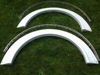 Elddis mistral gtx caravan wheel arch spat x2