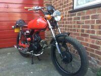 1988 Yamaha FS1E, Fizzy motorcycle / moped cafe racer