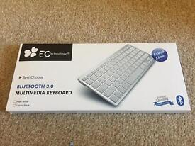 Bluetooth multimedia keyboard. Black