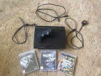 PS3 Slim 12GB with games