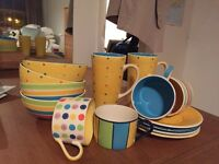 Whittard painted crockery collection