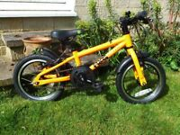 FROG 43 kids bike. Orange. 14inch wheels