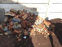 A pile of rubble / bricks / hardcore - free