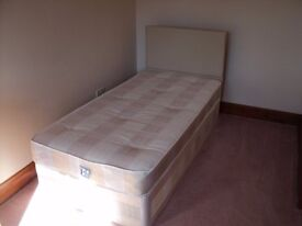 SINGLE 3 FT BED WITH HEADBOARD ONLY USED FOR 1 WEEK EXCELLENT CONDITION