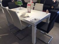 Large white wooden table lacquered BRAND NEW !!! 1/4 PRICE NOW ONLY + DELIVERY