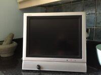 """SHARP AQUOS LCD 13"""" Colour Television in silver. Model LC-13E1E"""