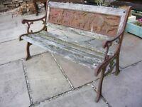 """Child's Ornate Garden Bench - Just 32"""" wide"""