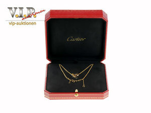 CARTIER TRINITY COLLIER HALSKETTE KETTE++ANHÄNGER 18K/750 TRICOLOR GOLD NECKLACE