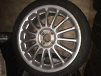 """Mg zr 17"""" alloy wheels x 4 with centres"""