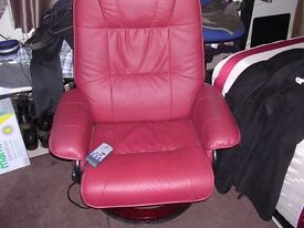 Recliner Napoli Swivel Massage Chair and Massage Foot Rest
